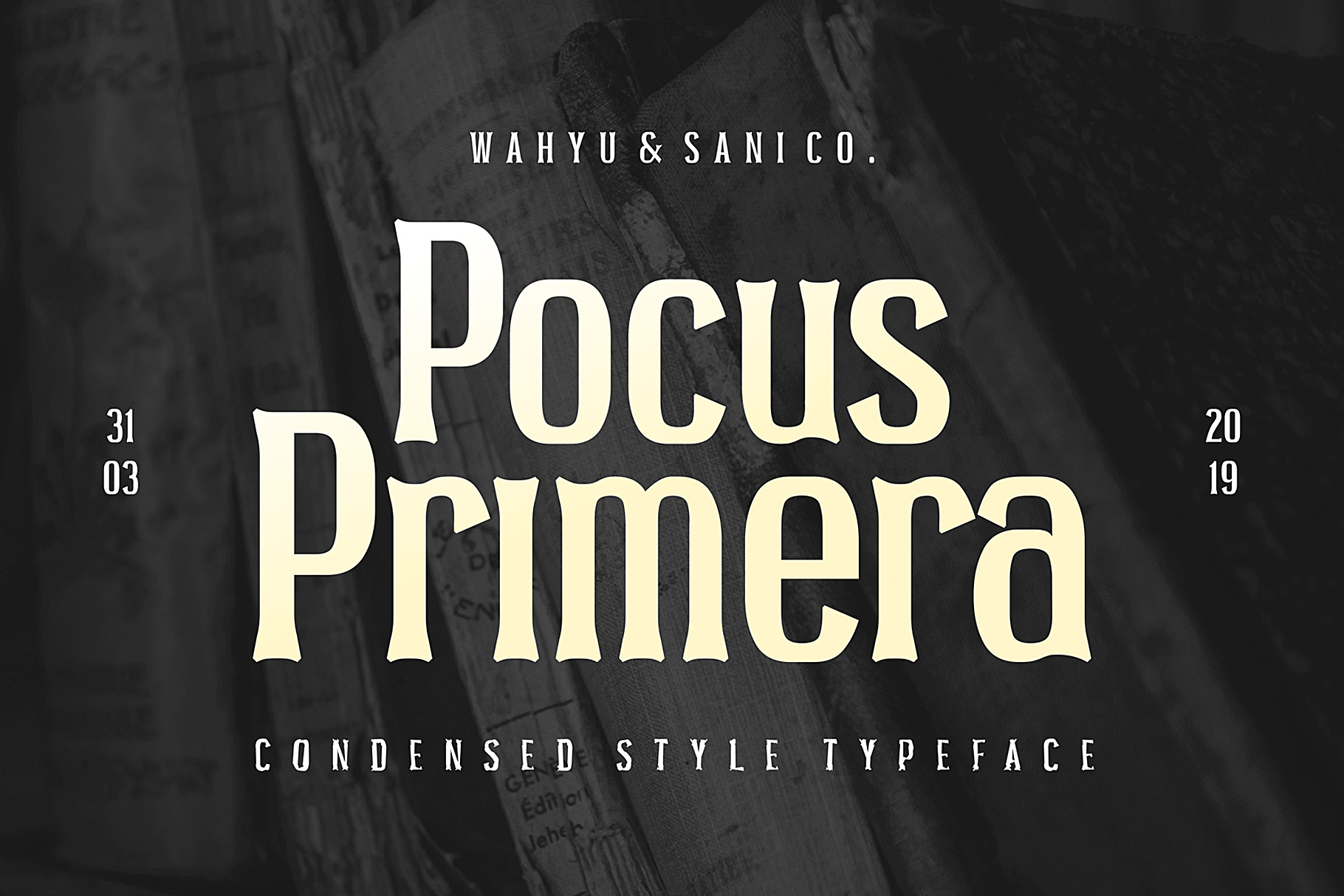 Pocus Primera | Condensed Style Font example image 1