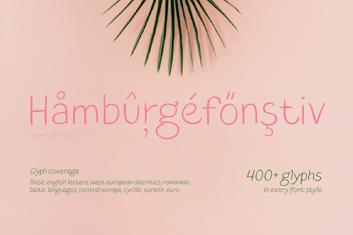 Blushes — Light & Light Italic example image 2