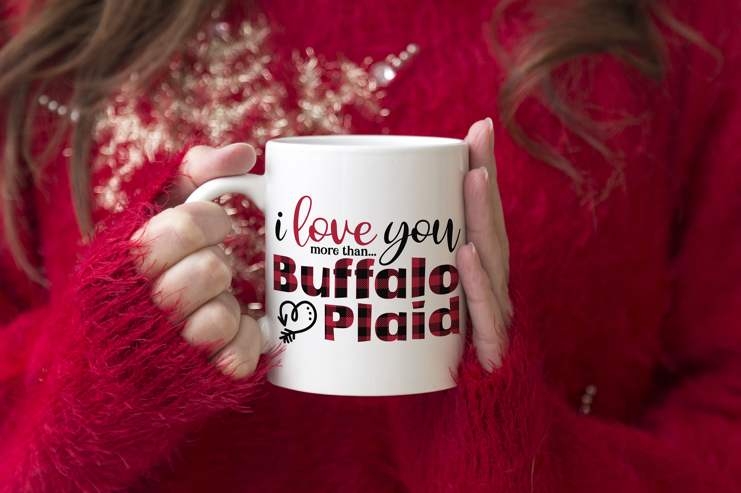 I Love You More than Buffalo Plaid - A Valentine's Day SVG example image 4