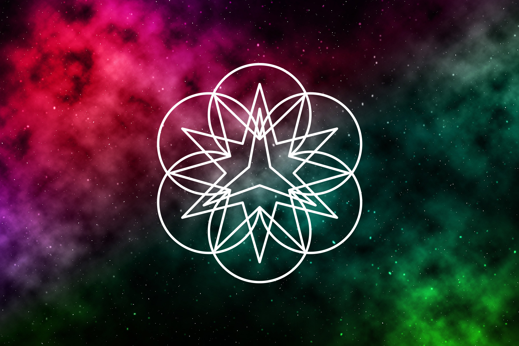 Sacred Geometry Vector Shapes Set example image 8