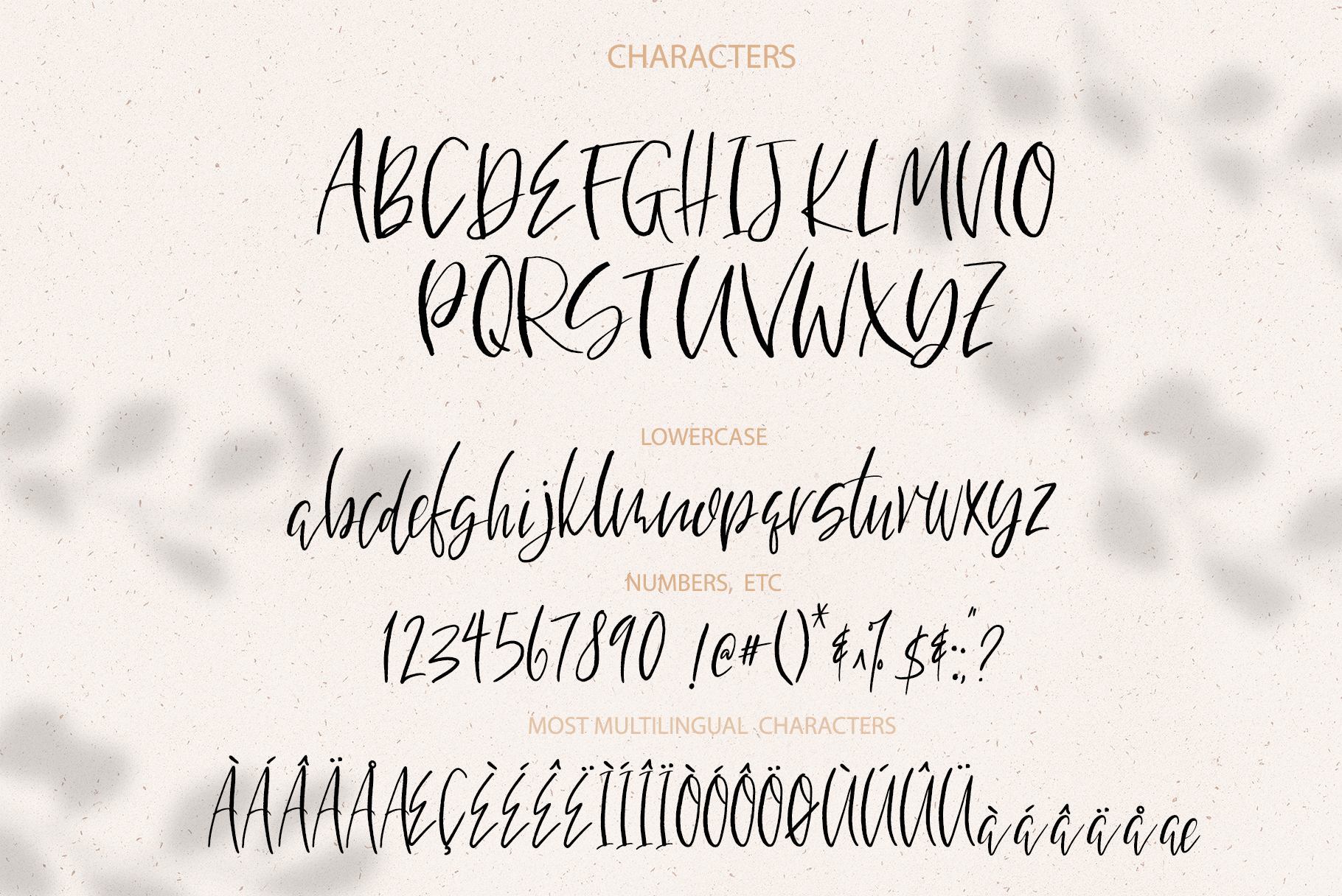 Bountiful Hand lettered. font example image 9