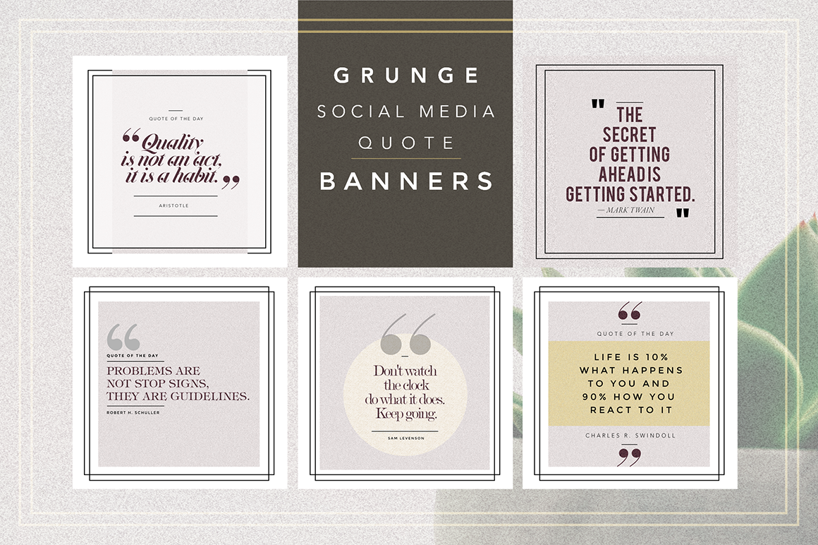 GRUNGE Social Media Quote Banners example image 1