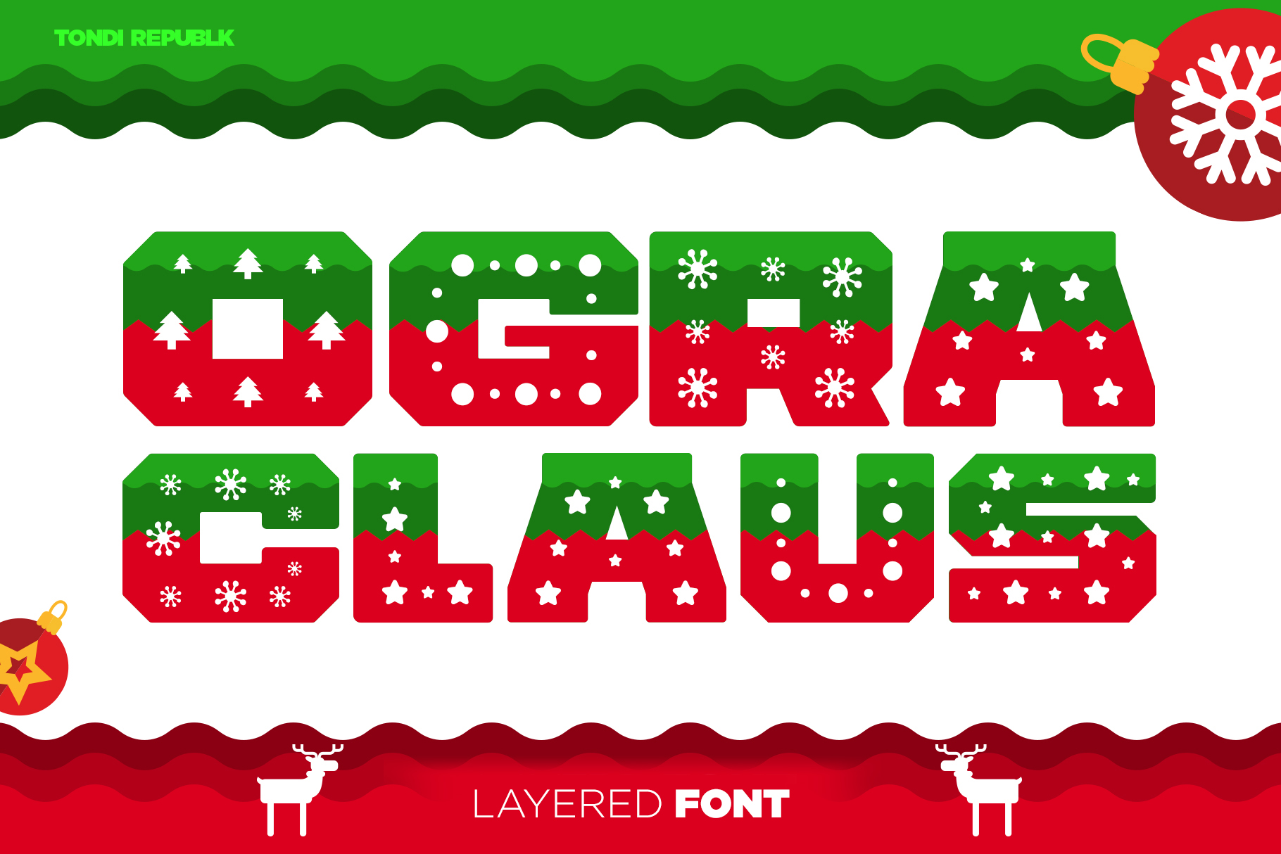 Ogra Clause Layered Christmas Font example image 1