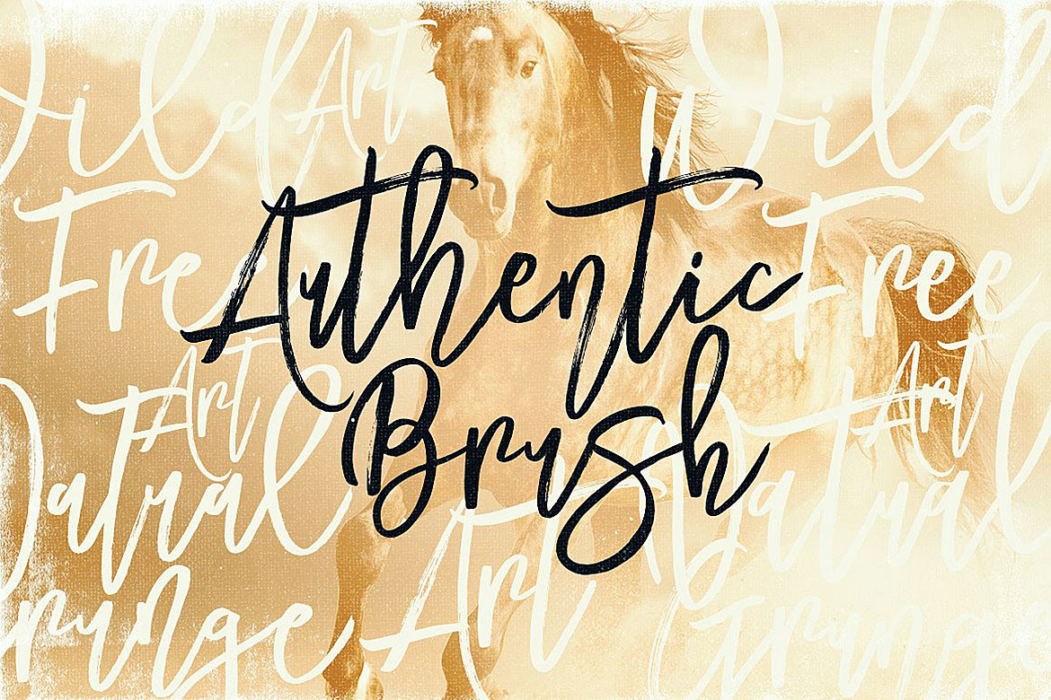 Mustang Brush Font example image 2