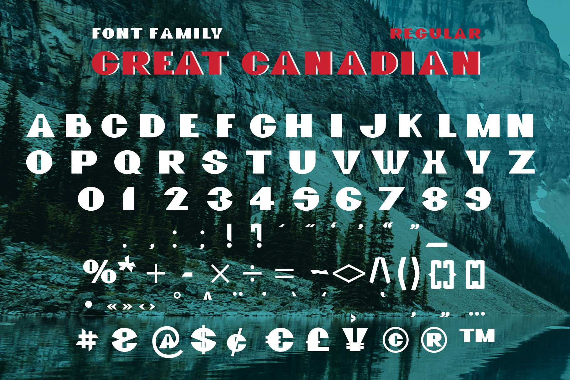GreatCanadian-font family example image 4