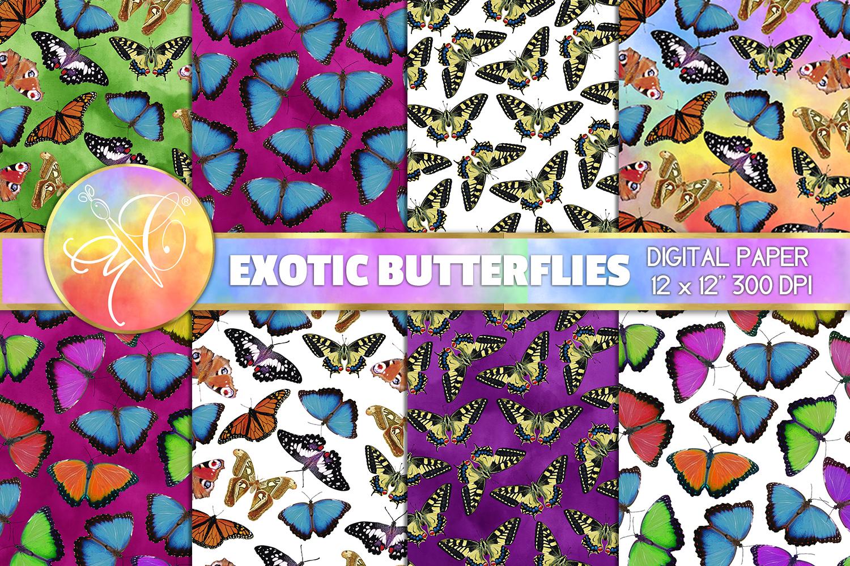 Exotic Butterflies Digital Paper example image 1
