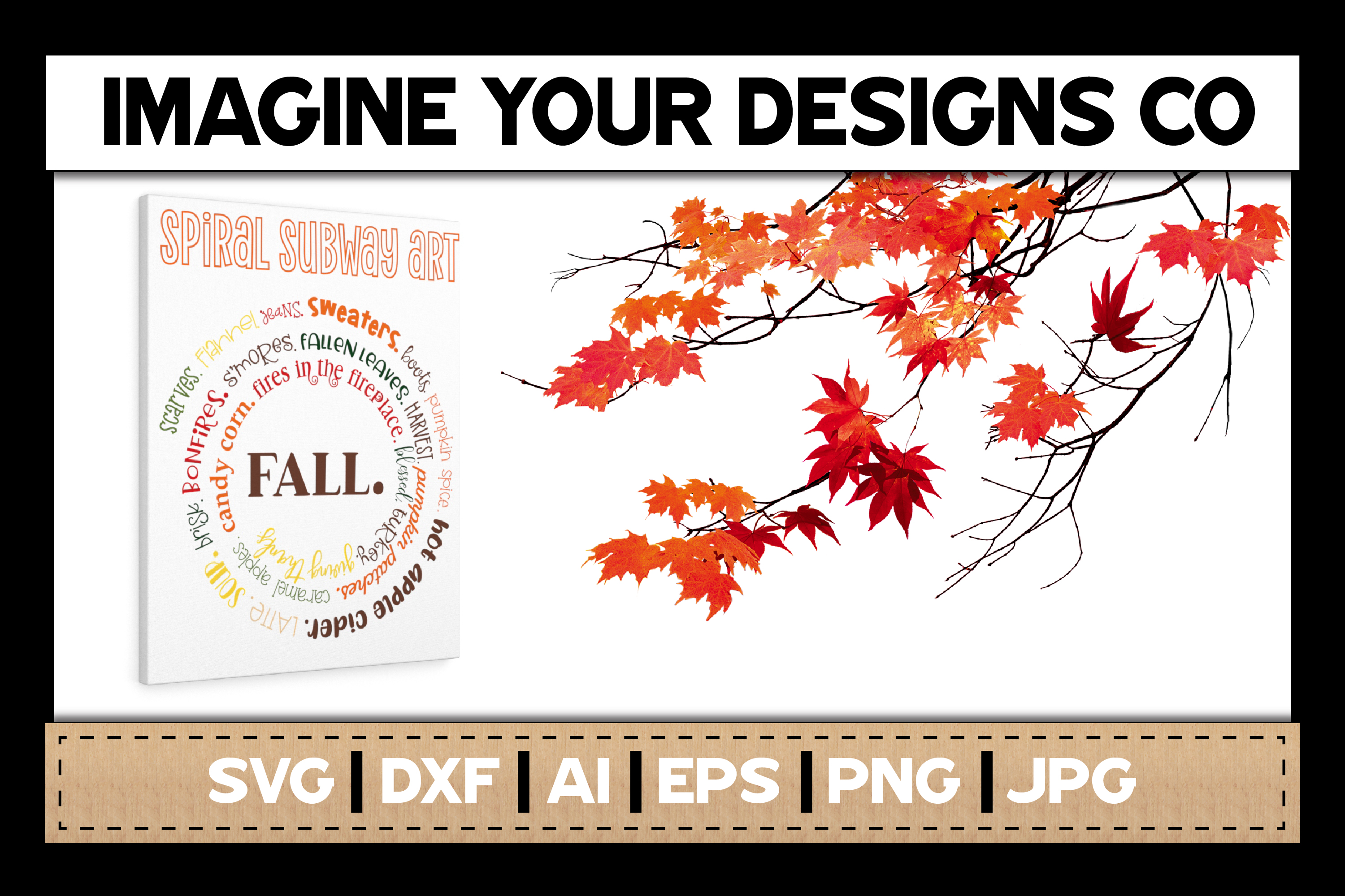 Fall SVG Cut File, Spiral Subway SVG Sublimation example image 2