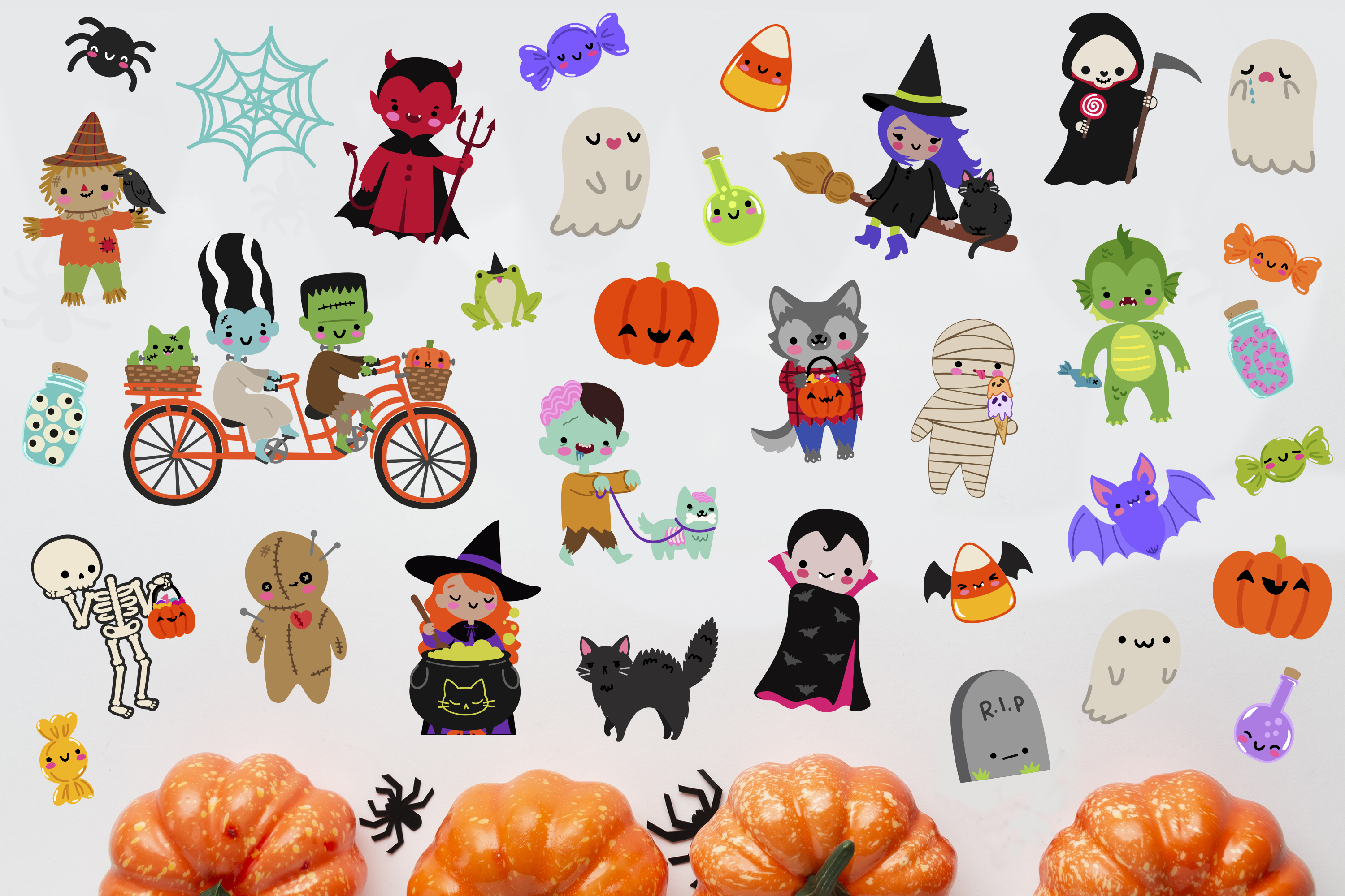 Halloween Monsters Clipart example image 4