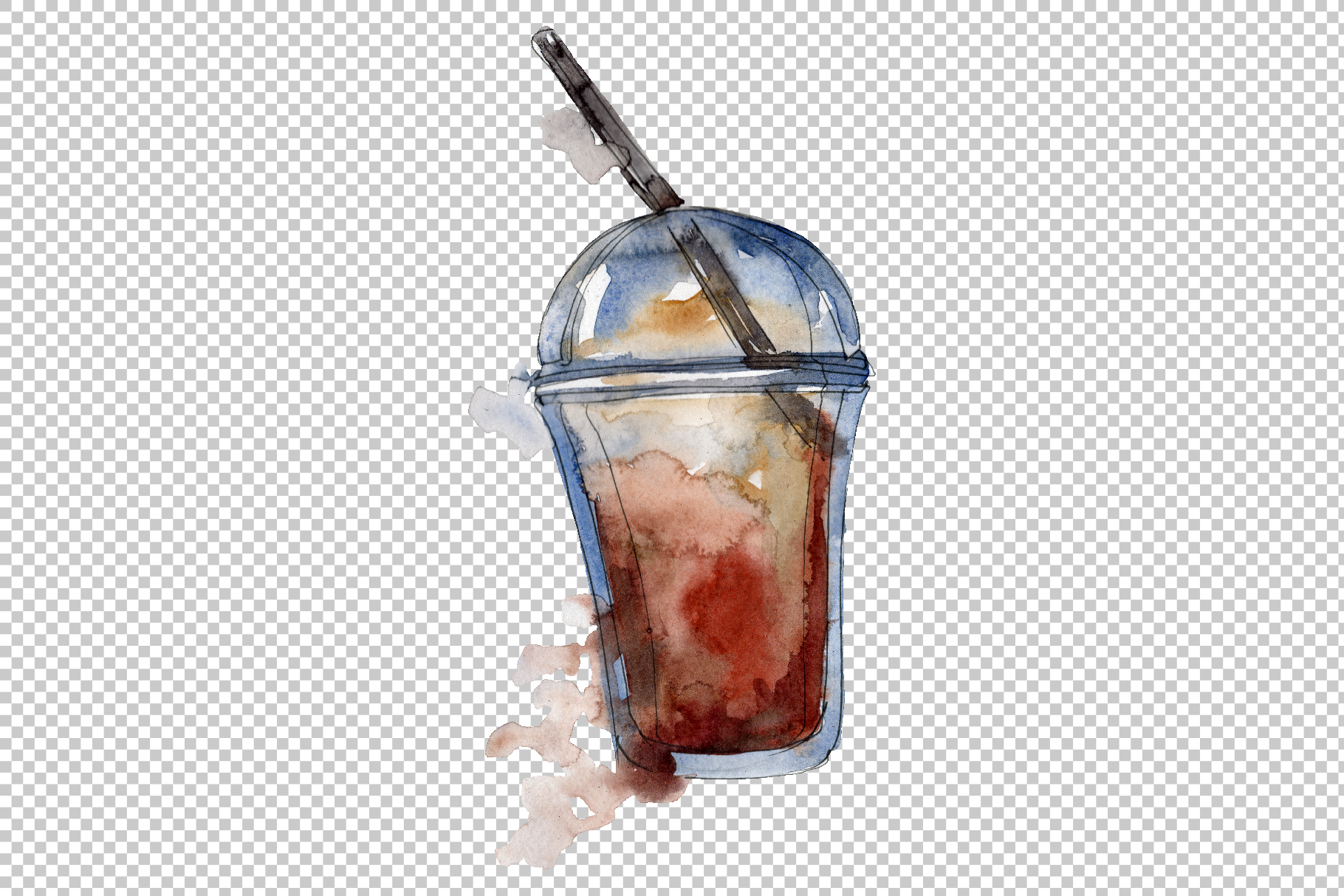 Drinks Coffee Watercolor png example image 5