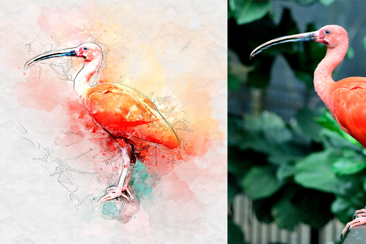 Watercolor Mixed Art Photoshop Action example image 12
