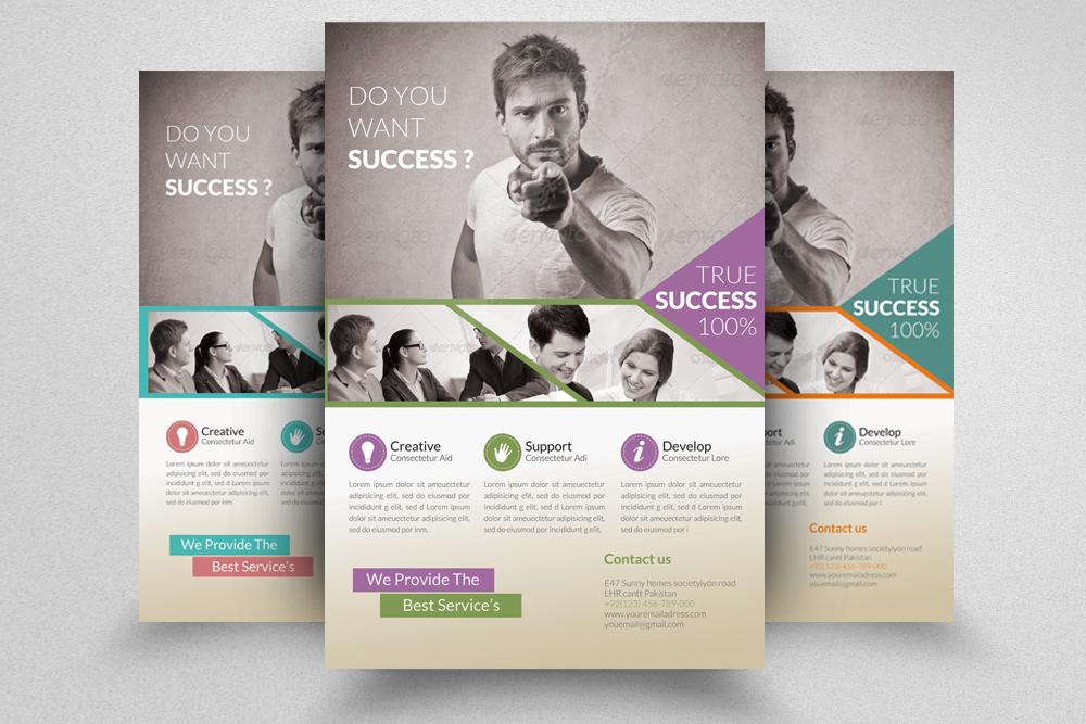 6 Multi Use Business Flyers Bundle example image 5