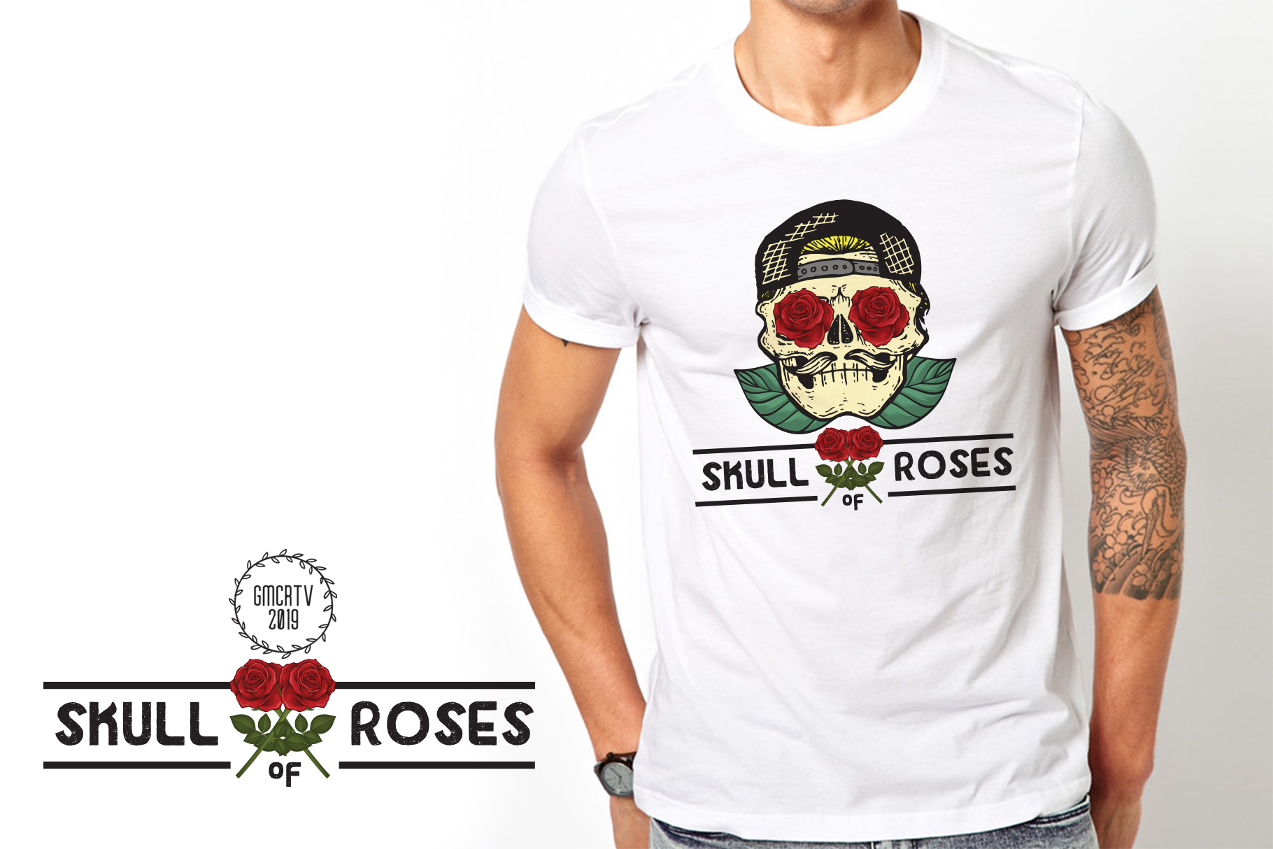 Skull of roses example image 2