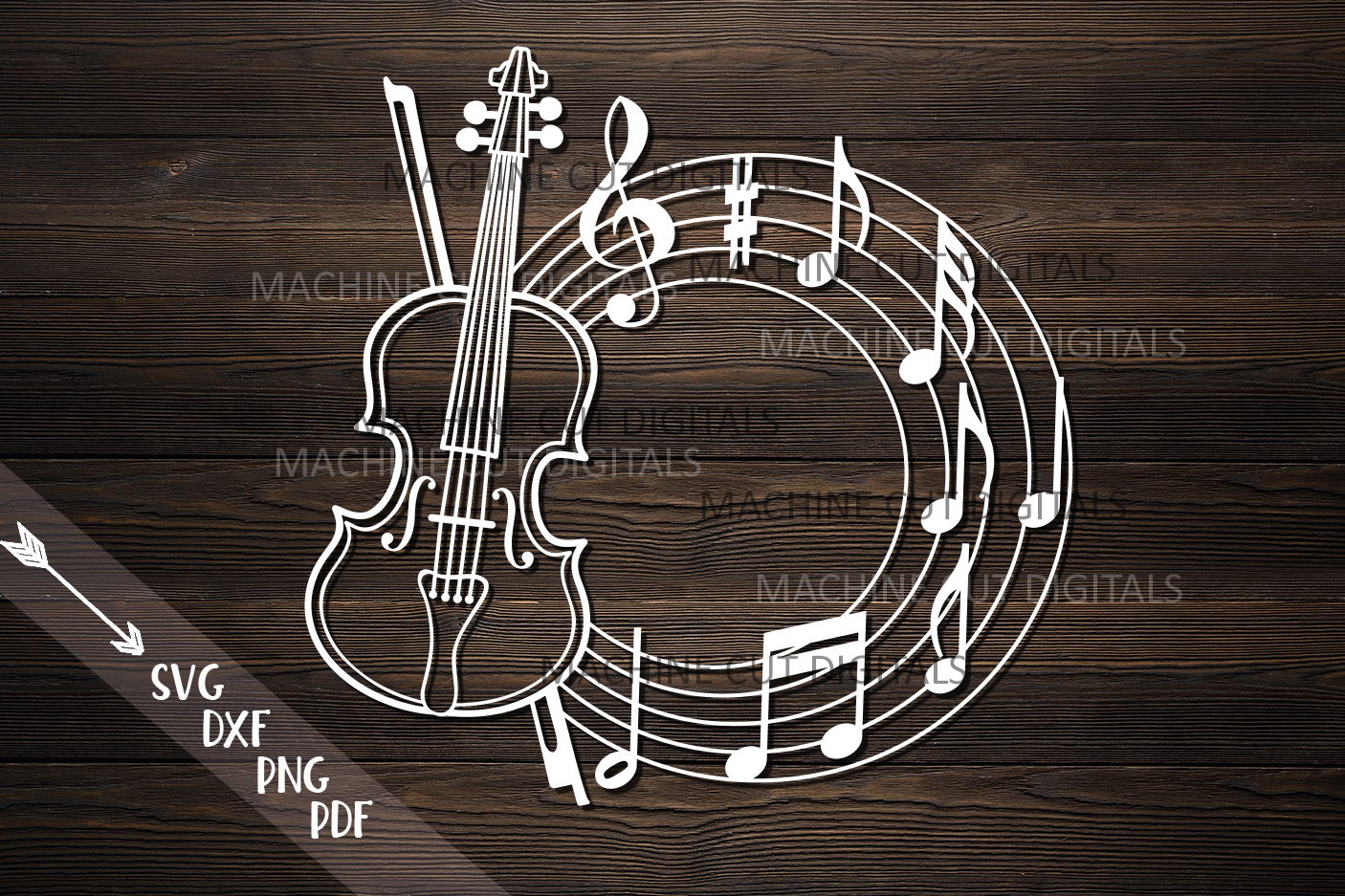 Violin frame for name with musical notes music classes svg example image 1