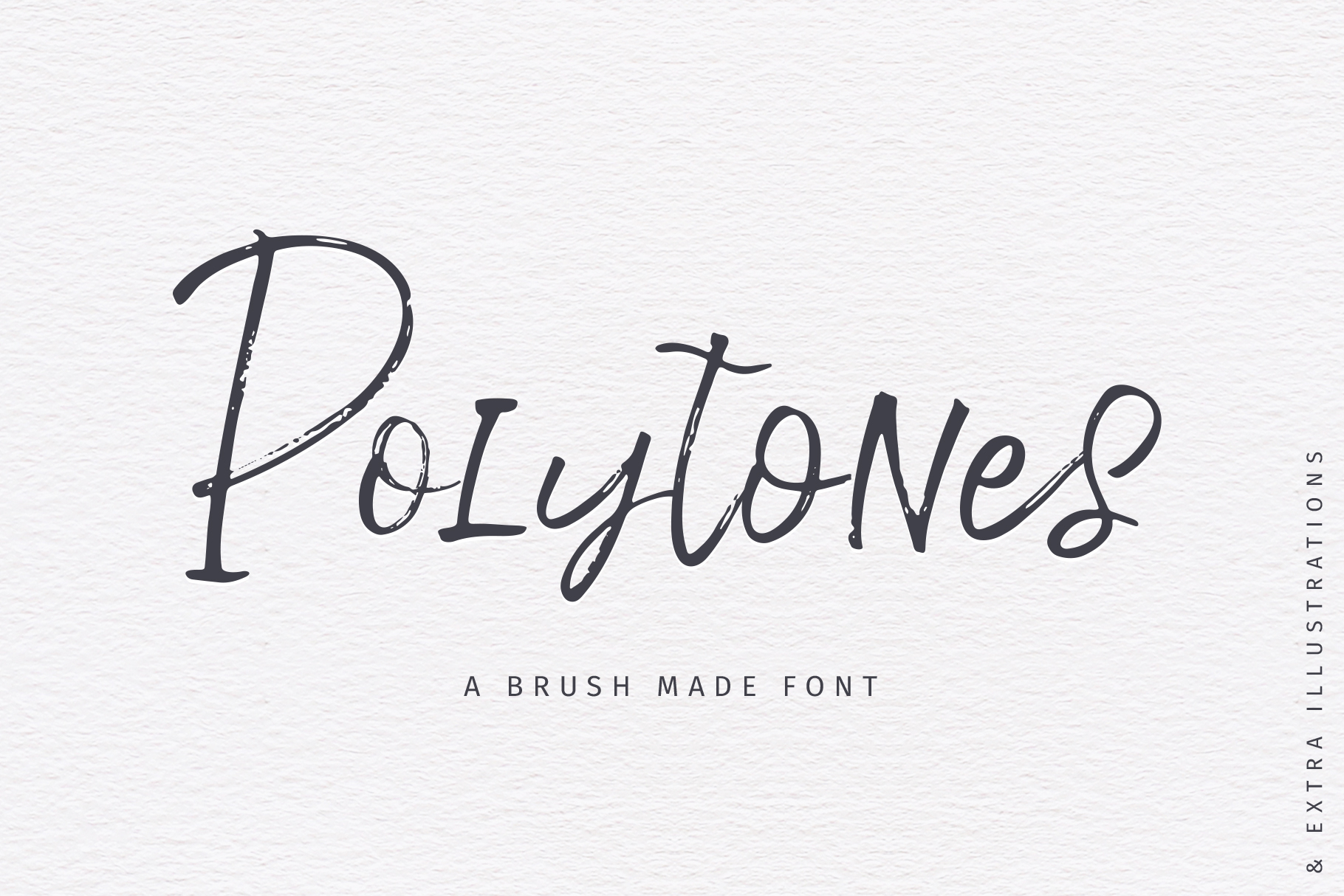 Polytones | A Brush Made Font example image 1