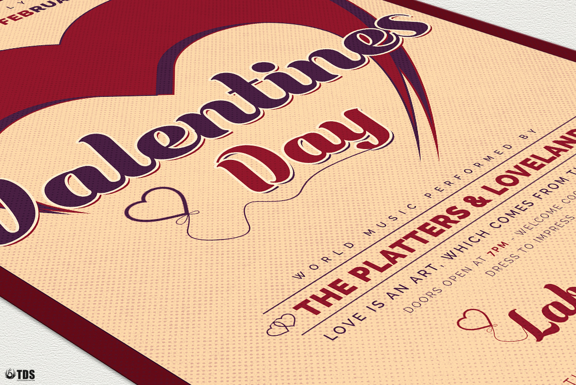 Valentines Day Flyer Template V9 example image 7