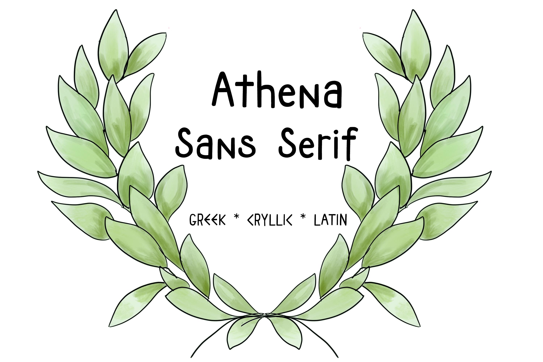 ATHENA SANS SERIF FONT - Greek, Cyrillic and Latin Typeface example image 1
