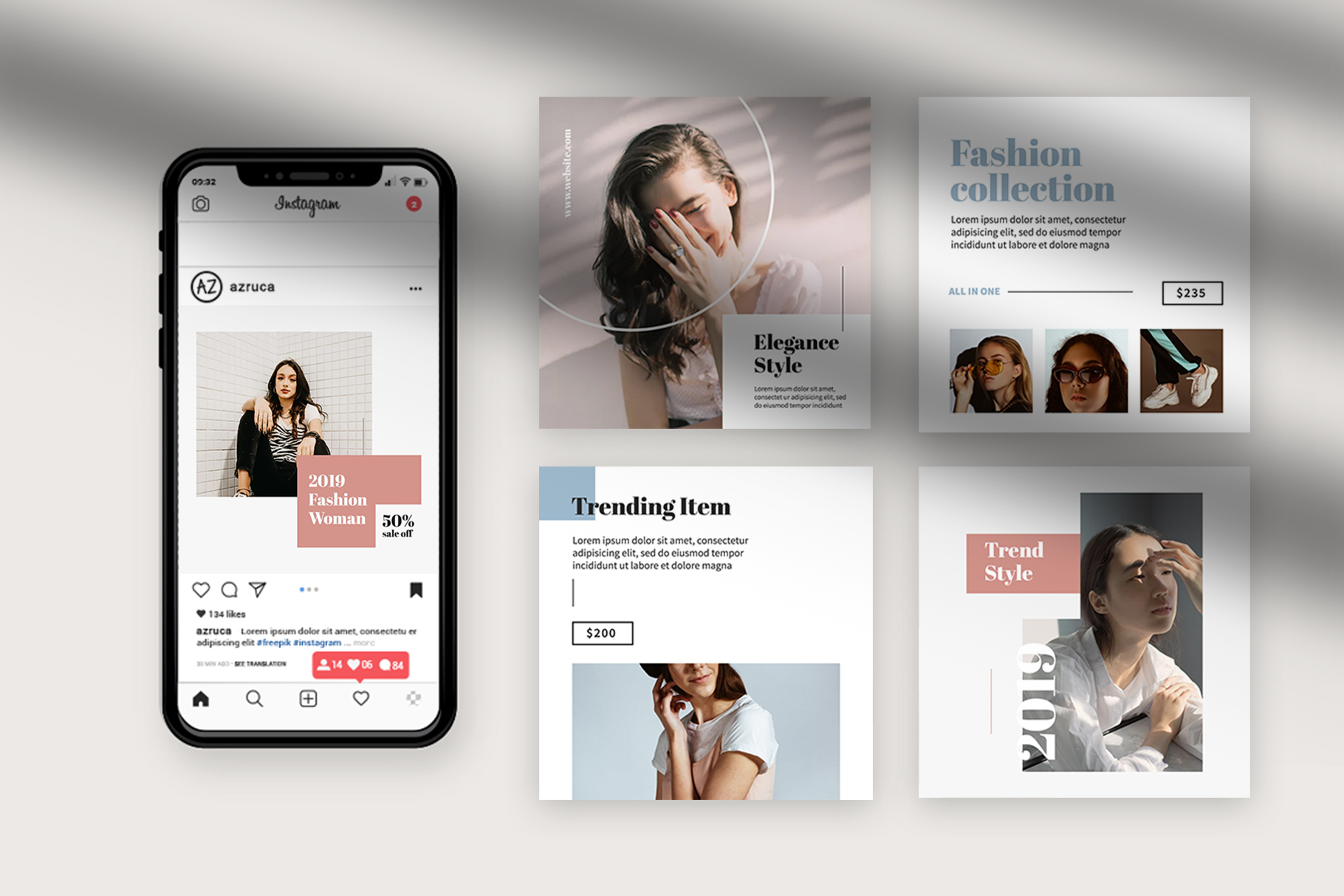 Fashion Instagram Templates example image 3