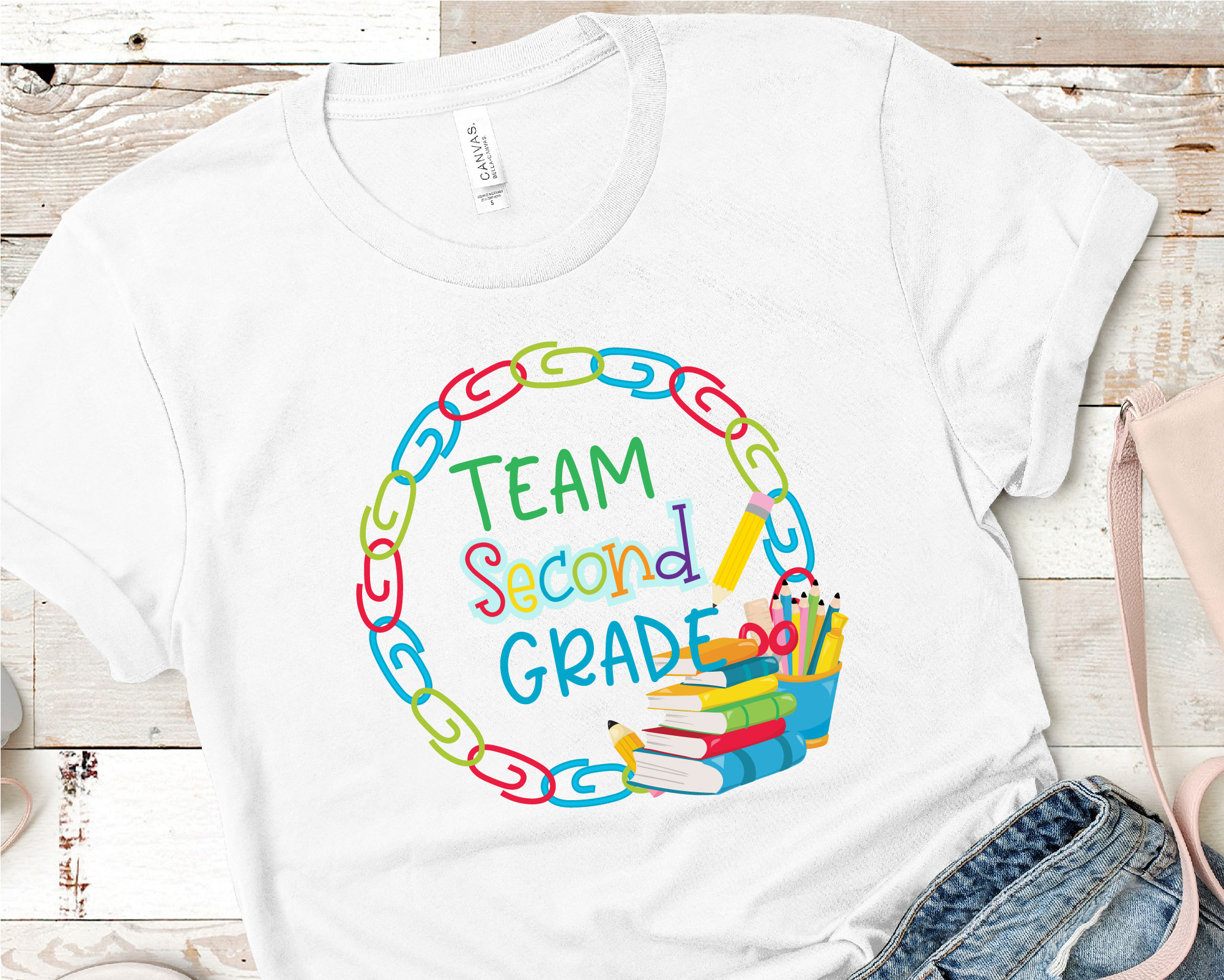 Team Second Grade SVG, Second Grade Tribe Sublimation example image 2