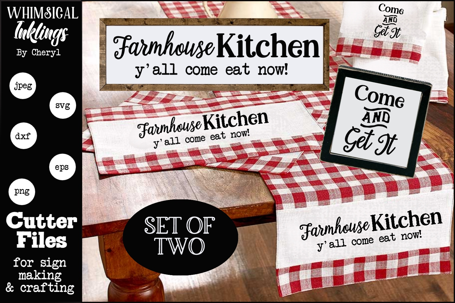 Come And Get It-Farmhouse SVG Set example image 1