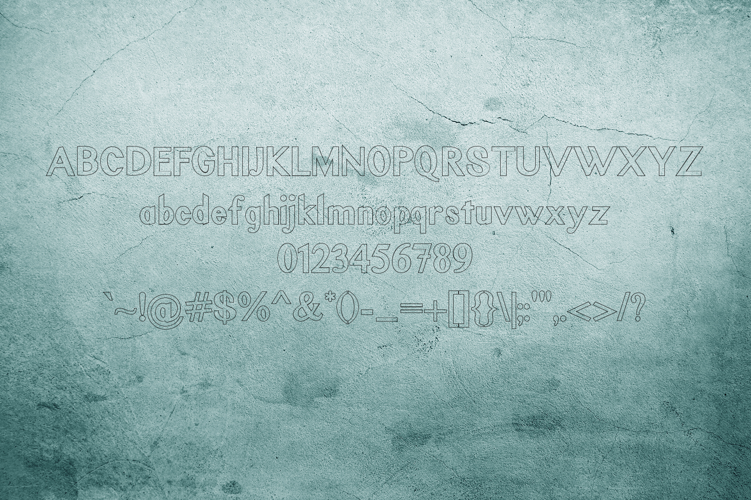 Rustic Oak A Grunge, Solid, and Stencil Font example image 6
