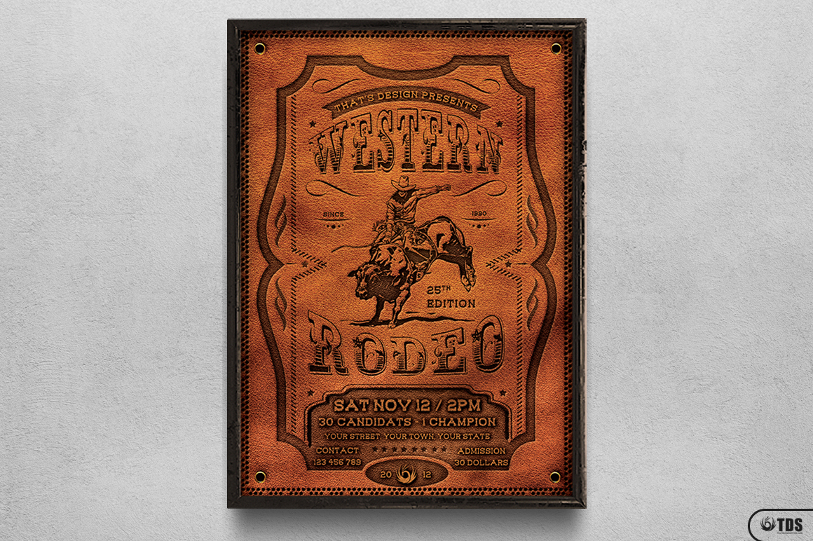 Western Rodeo Flyer Template V1 example image 6