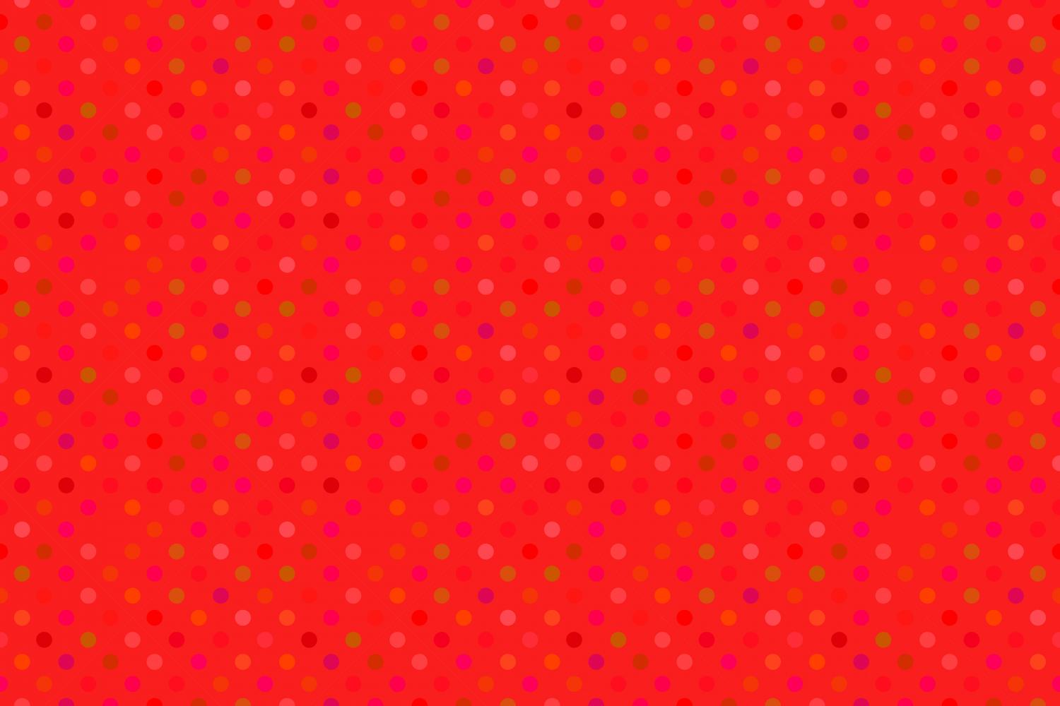 24 Seamless Red Dot Patterns example image 18
