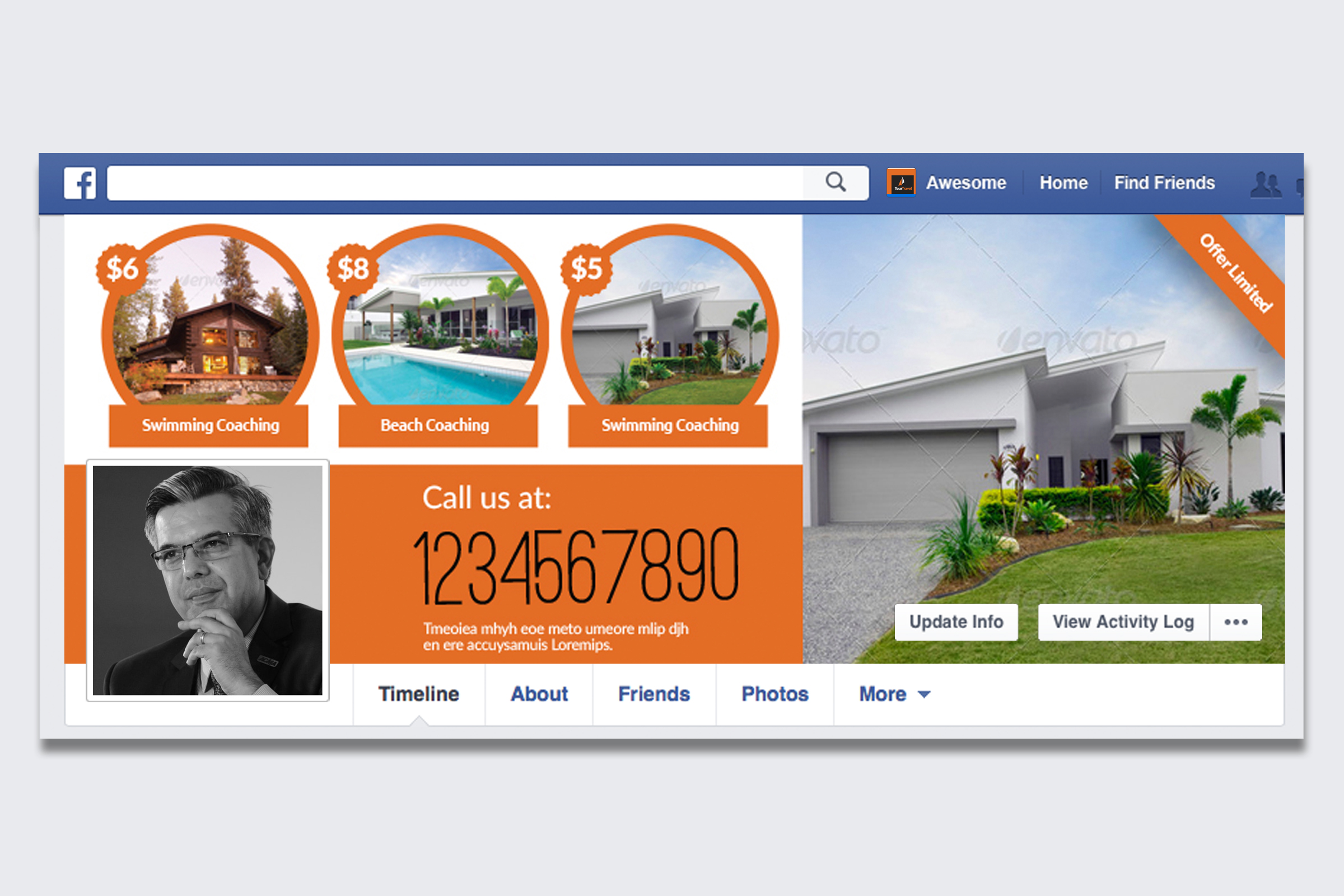 Real Estate Facebook Timeline Cover example image 1