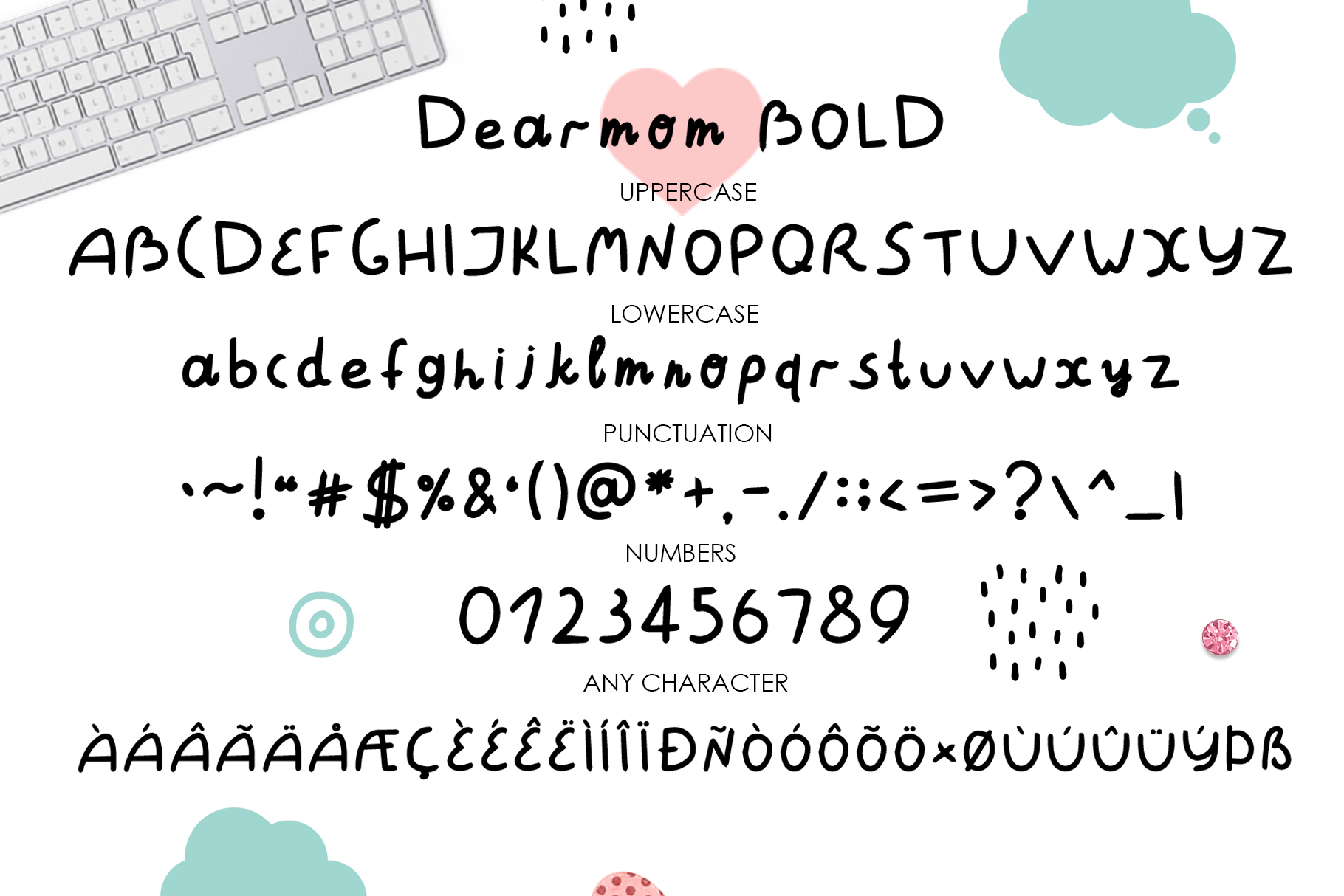 Dearmom and Deardad - Childrens font example image 7