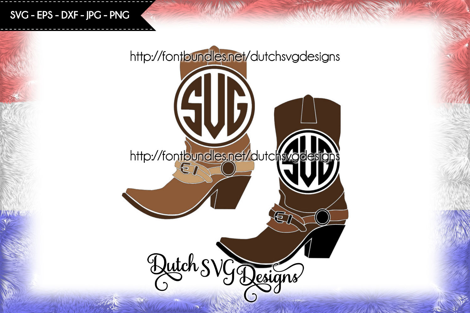 Monogram boots cutting files example image 2