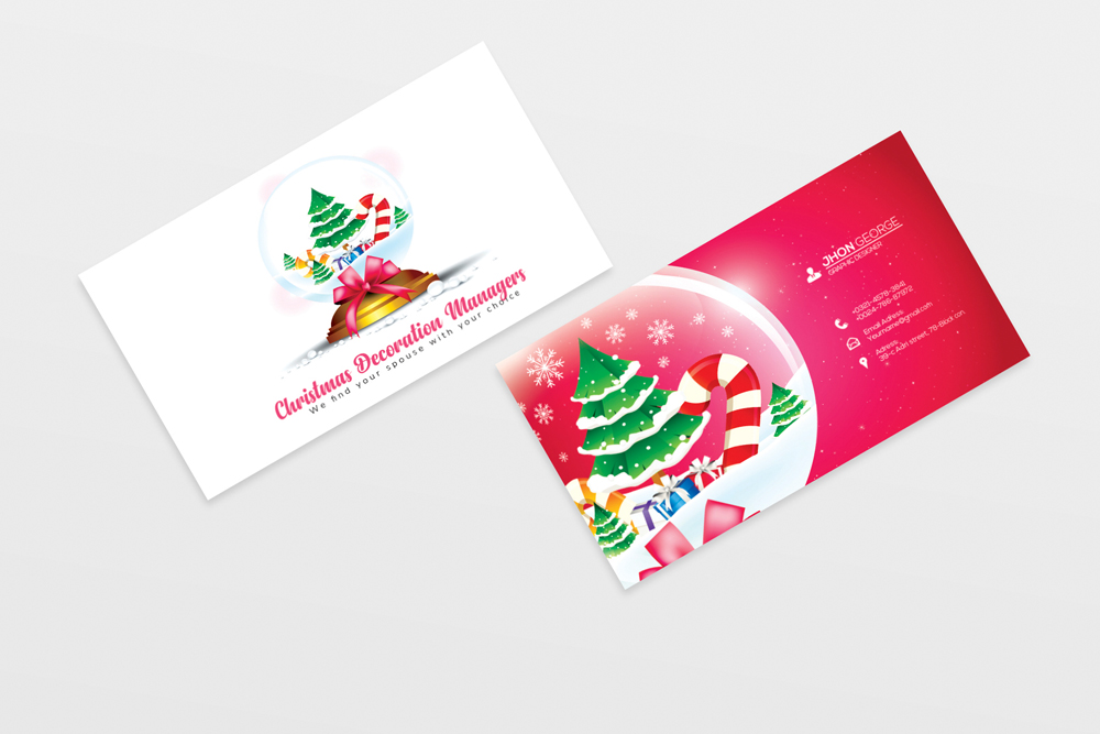 Christmas Decorator's Business Card example image 2