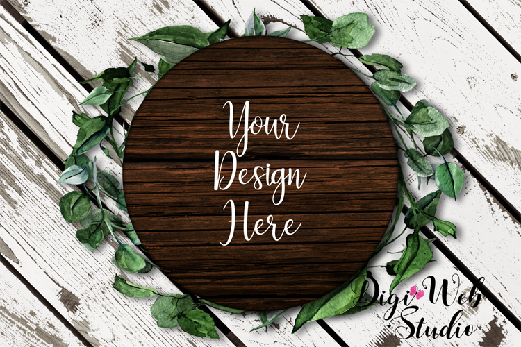 Wood Signs Mockup Bundle - 9 Piece Farmhouse Wood Signs 2 example image 4