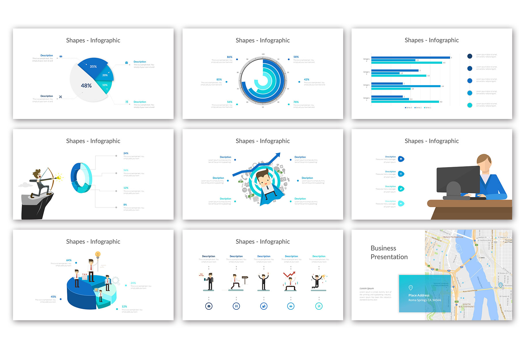 Big Business Presentation Template example image 17