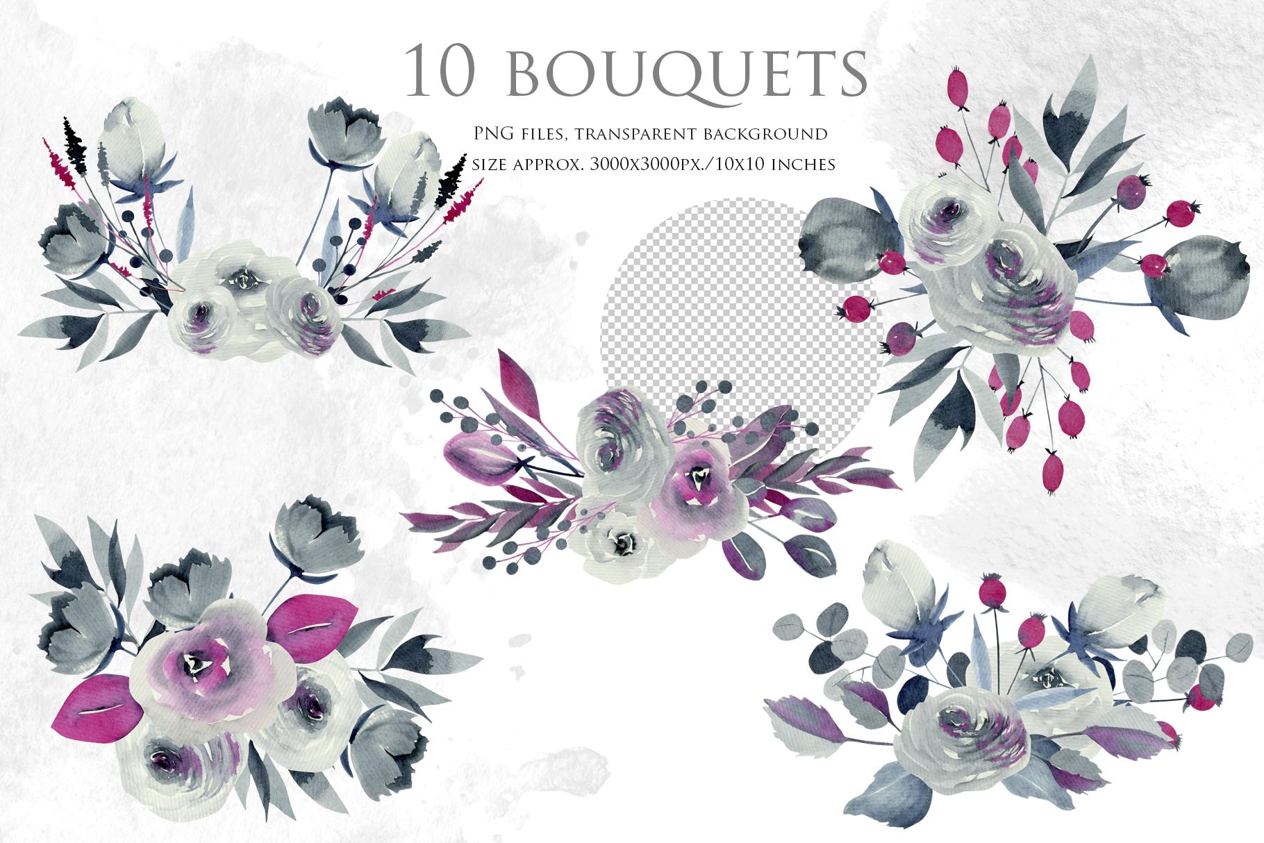 Georgia. Indigo floral bouquets. example image 2