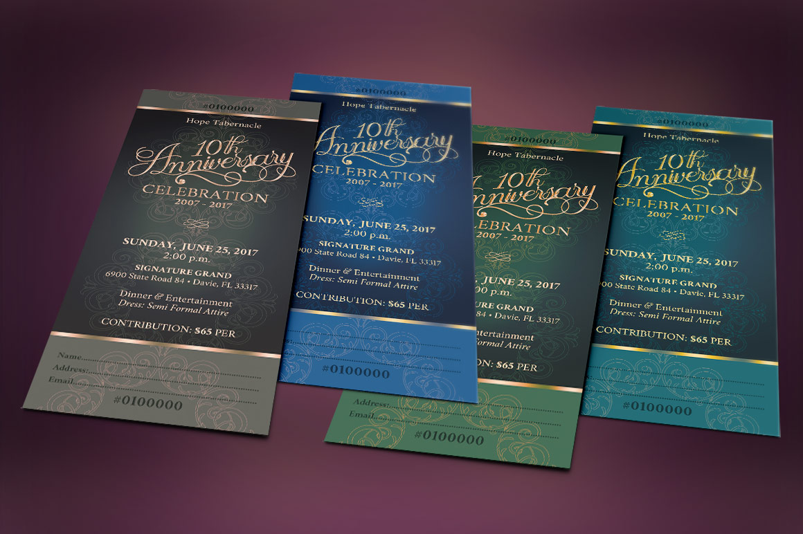 Church Anniversary Banquet Ticket example image 5