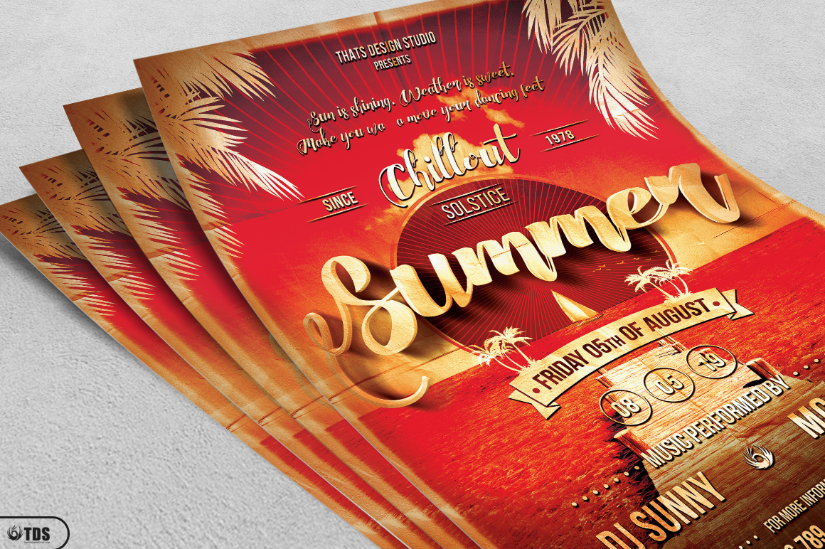 Summer Lounge Flyer Template V1 example image 3