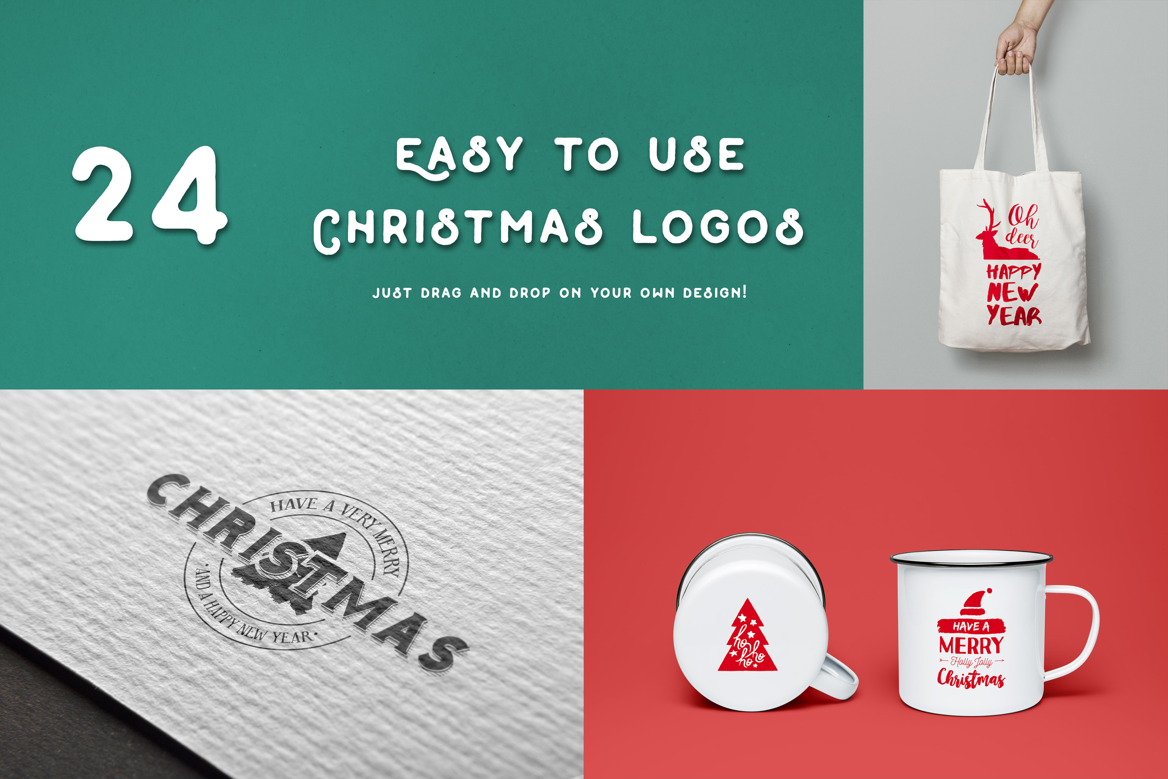 INTRO SALE 95% OFF! NEW Christmas quotes pack example image 2