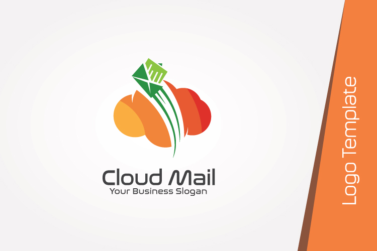 Cloud Mail Logo Template example image 2