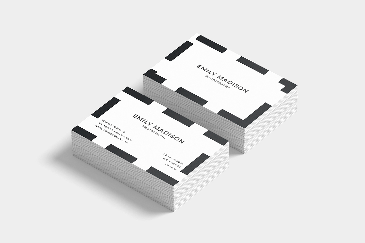 Clean Minimal Business Card Template example image 4