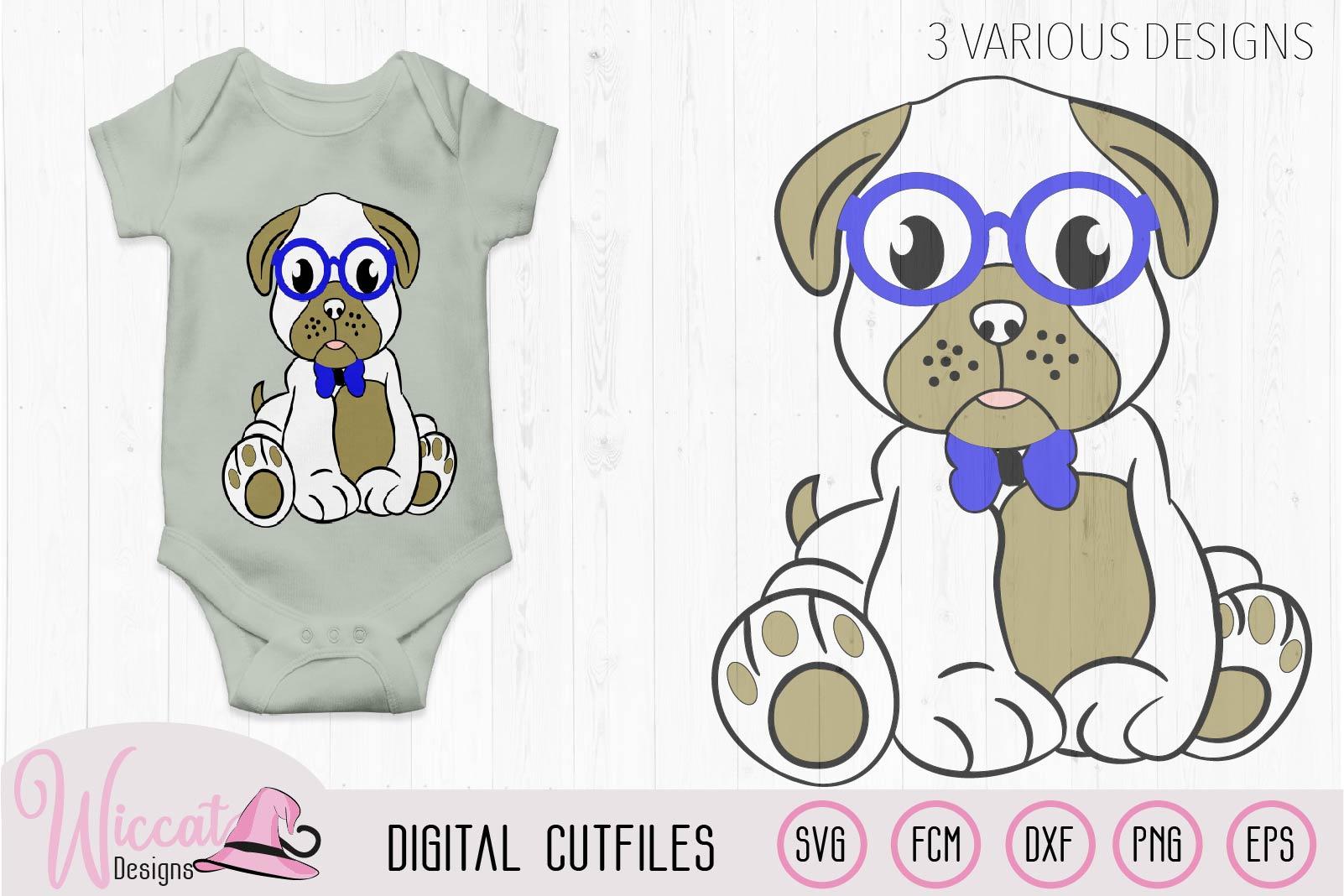 Boy pug svg, Hipster pug svg, pug svg, pug glasses svg, example image 2