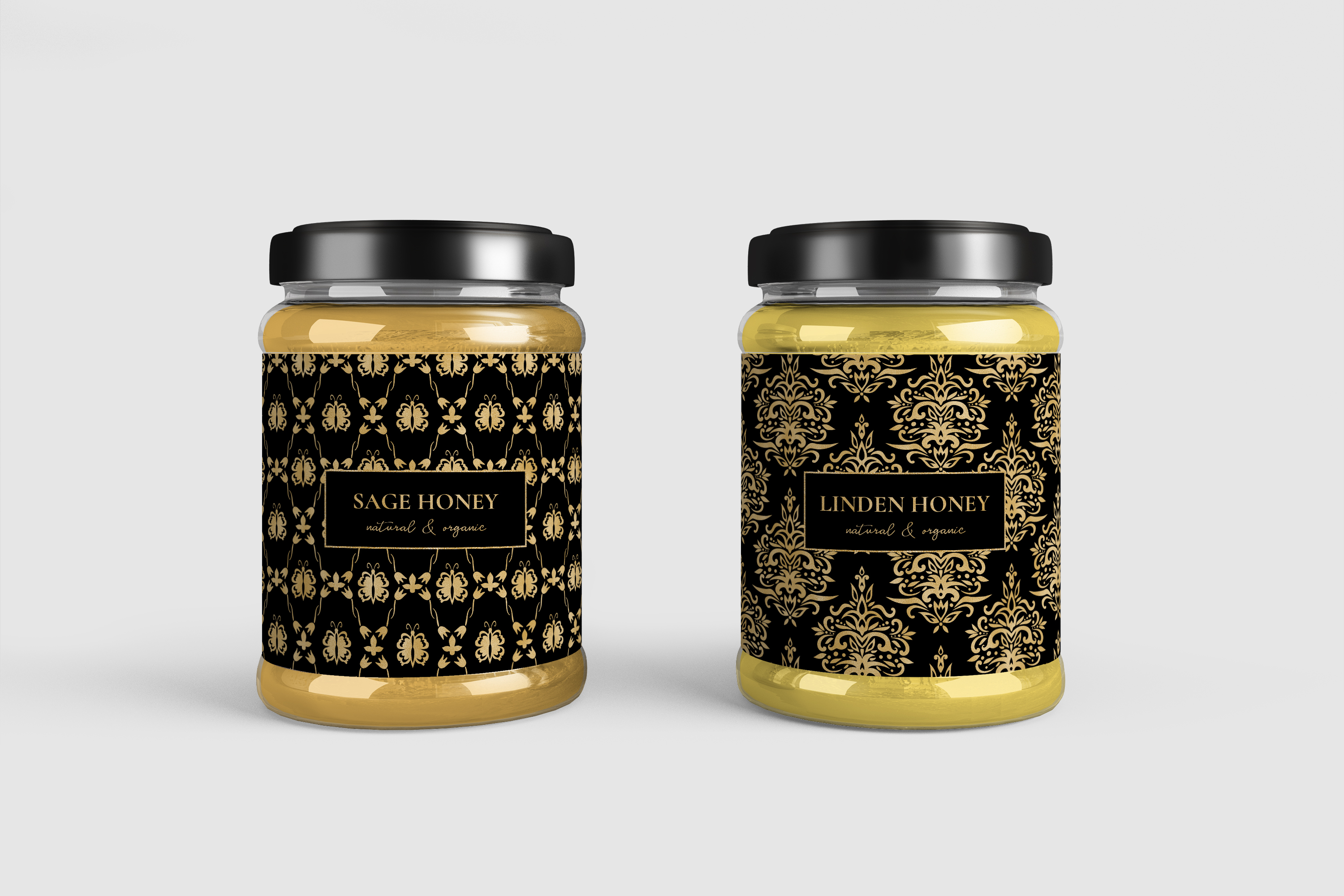 Black and Gold Seamless Papers - Damask & Geometric Patterns example image 6