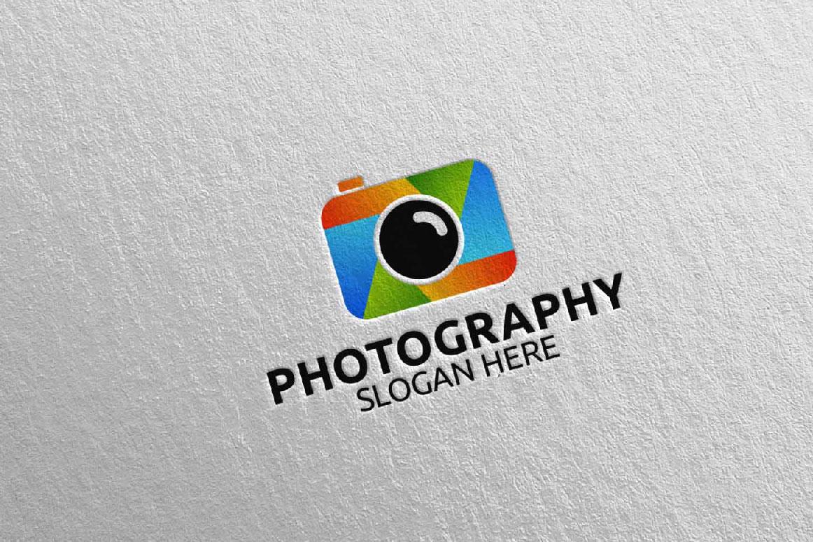 Abstract Camera Photography Logo 9 example image 1