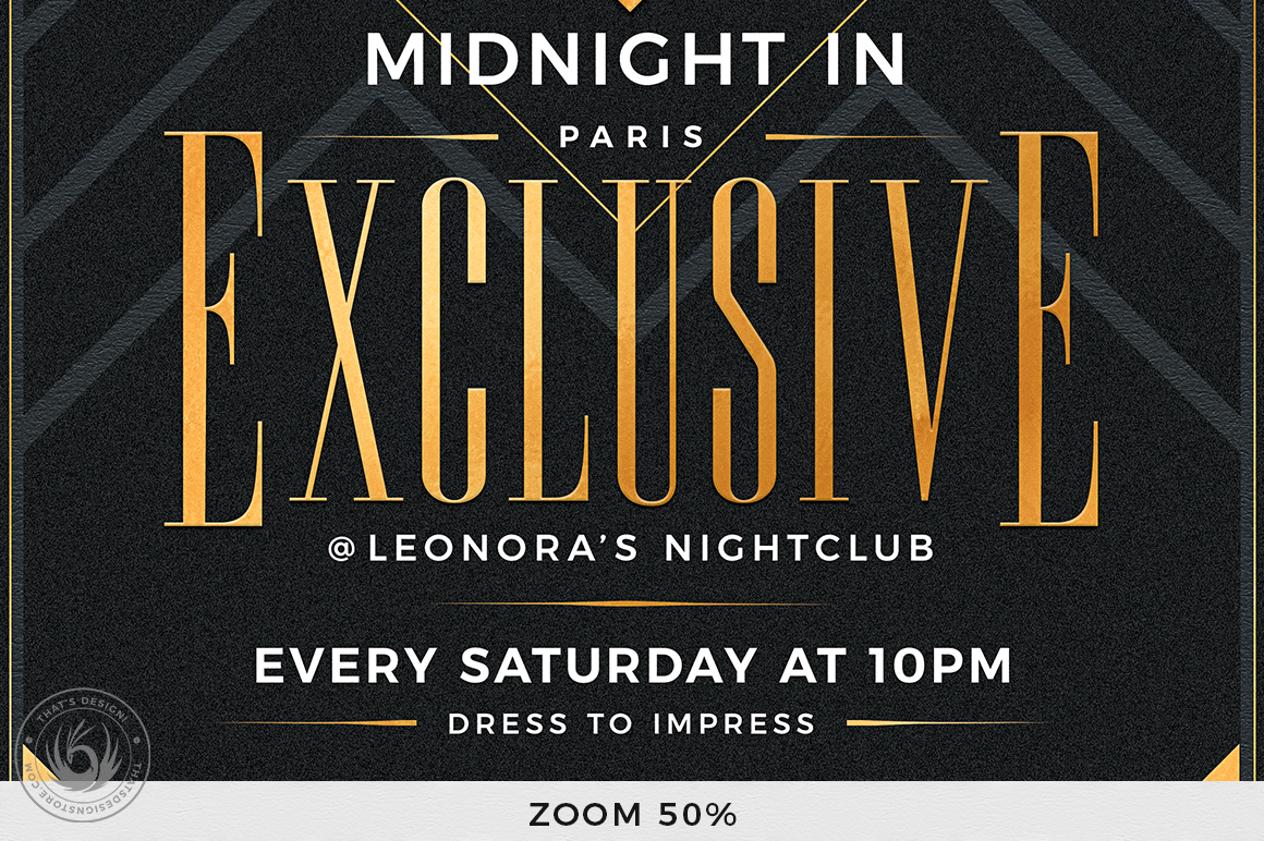 Exclusive Party Flyer Template example image 8