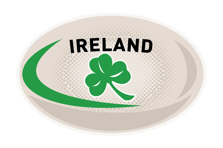 Rugby Ball Ireland Shamrock example image 1