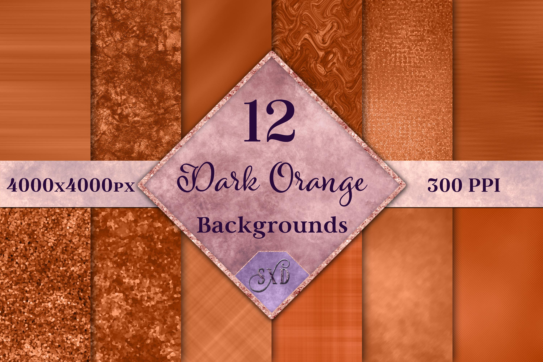 Dark Orange Backgrounds - 12 Image Textures Set example image 1
