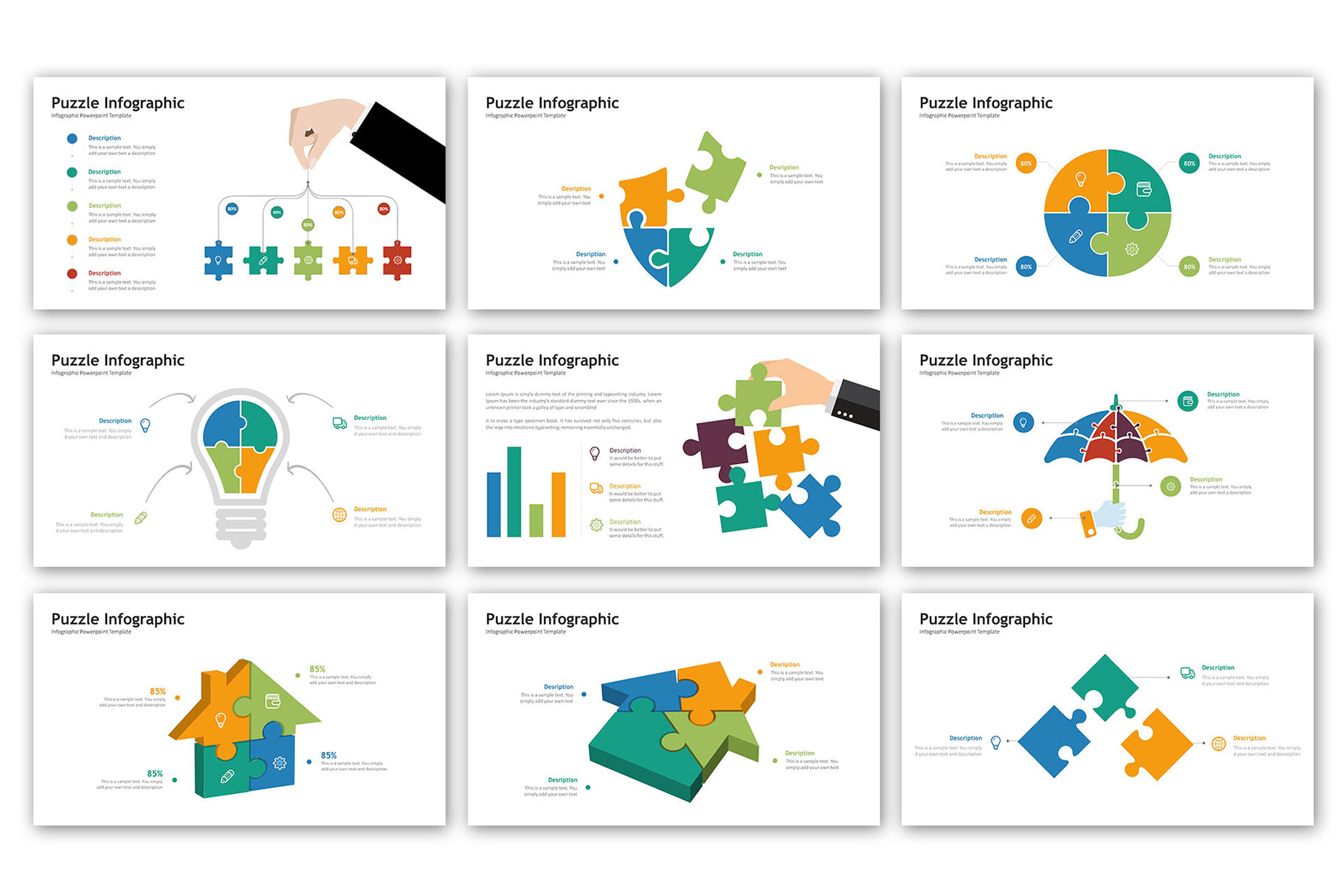 Puzzle Presentation - Infographic Template example image 5