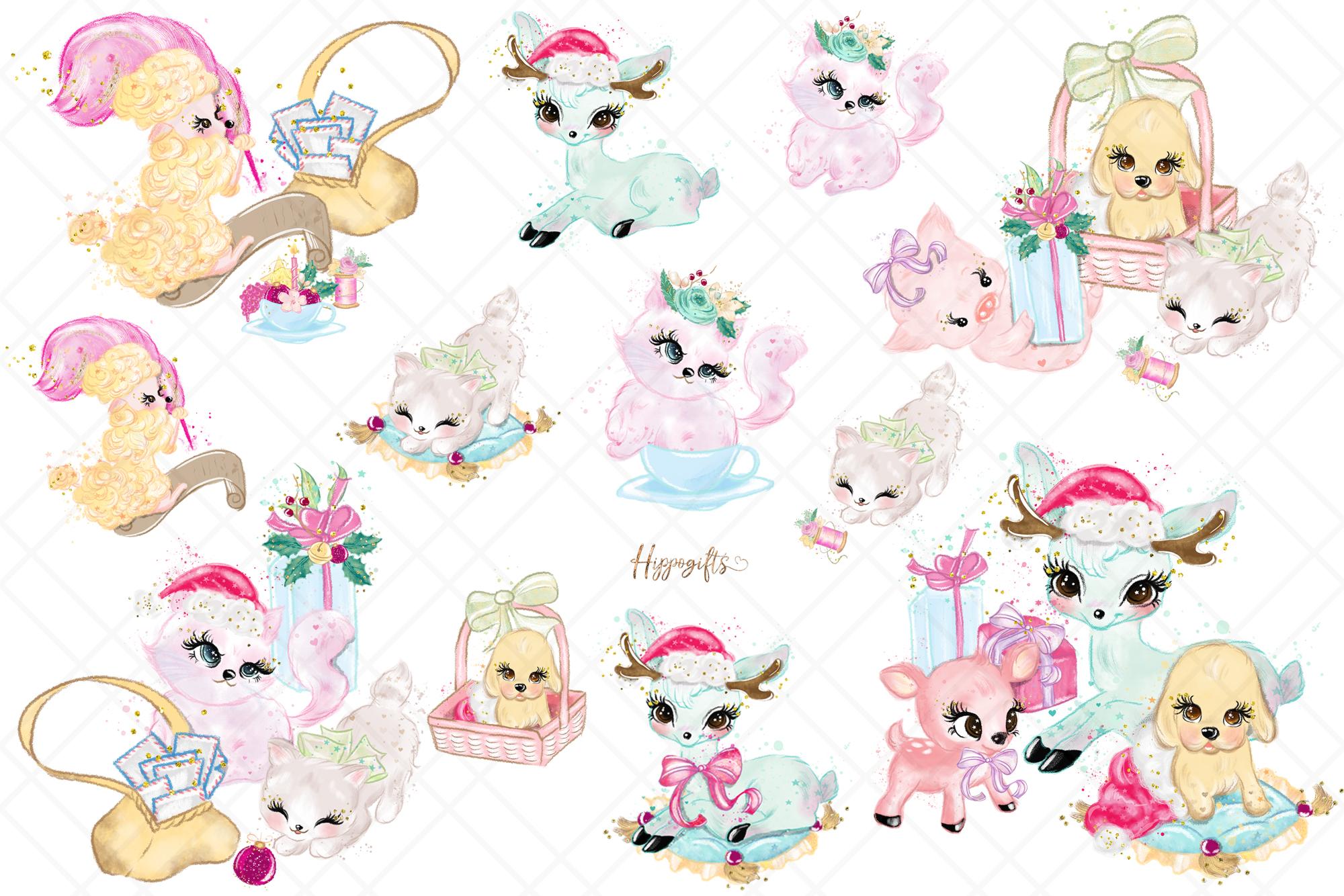Animals Christmas Clip Art example image 5