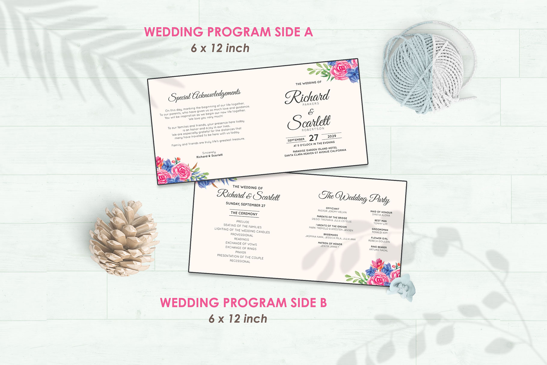 Wedding Invitation Set #8 Watercolor Floral Flower Style example image 5