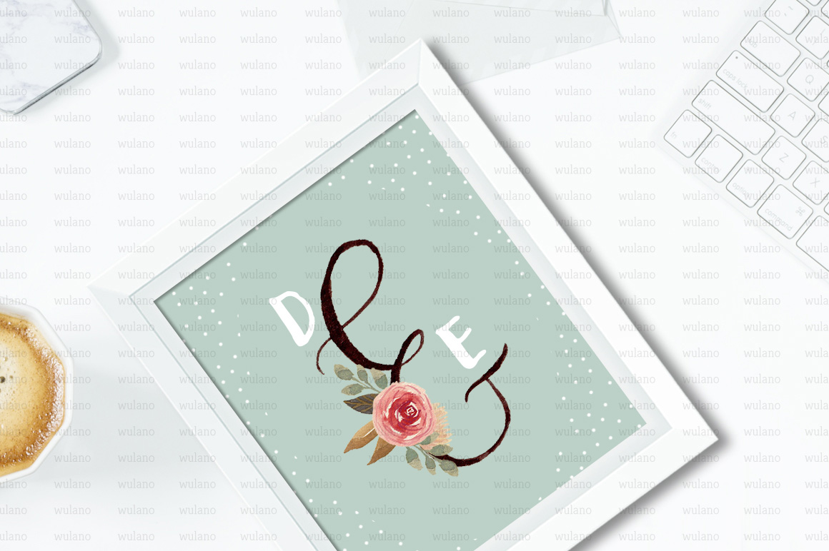 Floral Monogram Letters example image 5