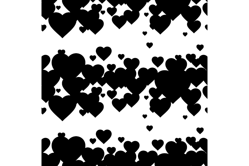 Set of 12 backgrounds with Hearts on Valentine's Day. example image 16
