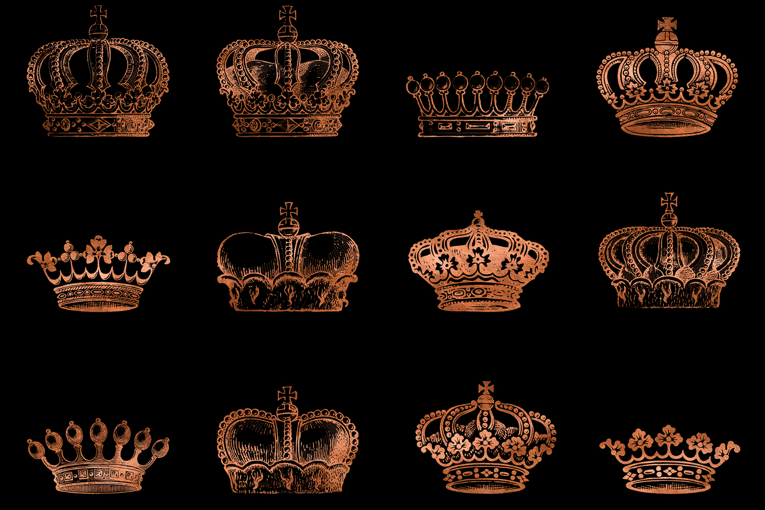 Copper Crown Clipart example image 2
